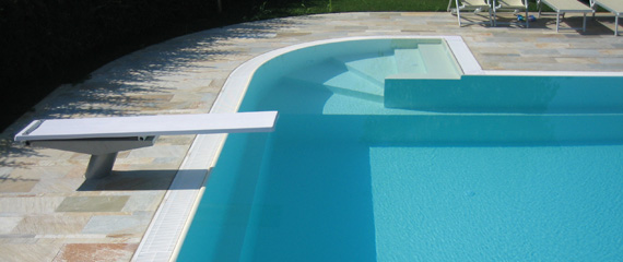 Acquafertpool piscine finiture e accessori trampolino