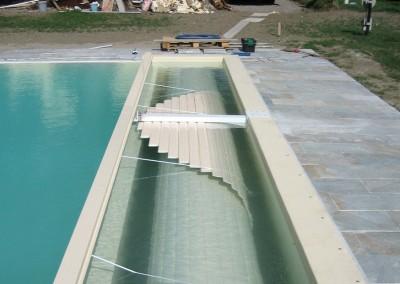 Acquafert Divisione Pool Collaudo tapparella avvolta nella fossa umida