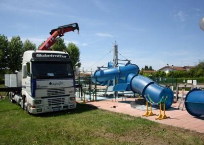 Acquafertpool Scivolo a tubo montaggio moduli (1)
