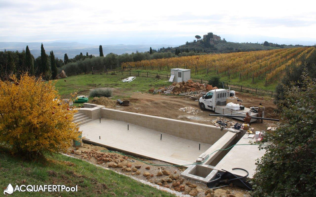 """Servizio """"chiavi in mano"""" per una piscina in Toscana"""