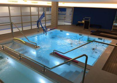 Sala della piscina riabilititativa